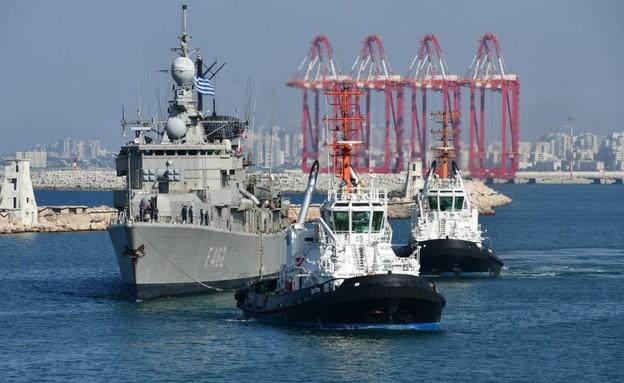 הספינות (צילום: IsraelatNATO, Twitter)