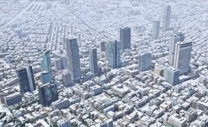 הדמיה של שלג בתל אביב (צילום: Simplex Mapping)