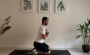 אימון לחיזוק הברכיים (צילום: באדיבות אליאב בר לב)