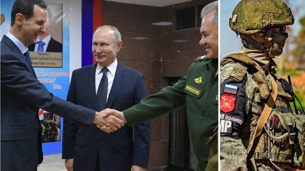 מנהיגי המדינות על רקע סיור צבאי (צילום:  ALEXEY DRUZHININ/SPUTNIK/DELIL SOULEIMAN/AFP , GettyImages)