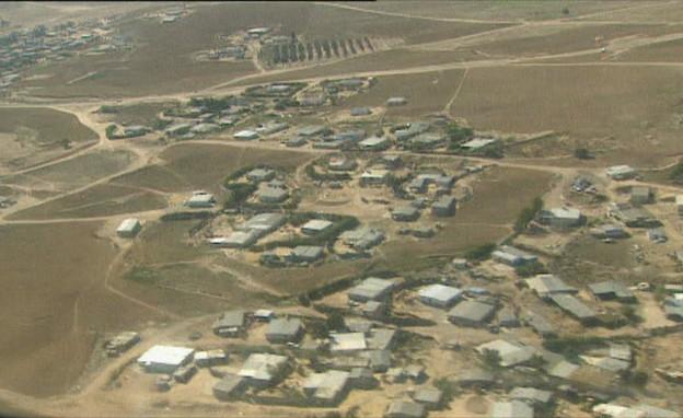 צילום רחפן בדרום מעל הפזורה הבדואית