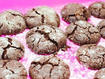 עוגיות שוקולד סדוקות טבעוניות (צילום: נטלי הולדינג)