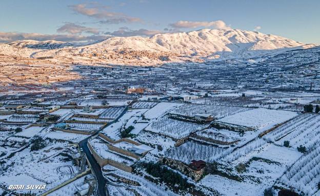 שלג בחרמון (צילום: עמרי סילבר ורונן אטדגי)