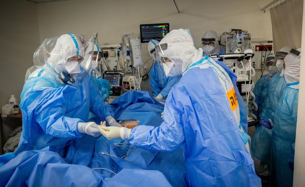 קורונה בישראל, בית חולים שערי צדק, ירושלים (צילום: יונתן זינדל, פלאש 90)