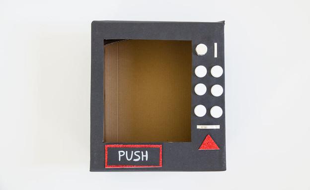 משלוח מנות 2021, מכונת ממתקים 7, הקופסה מוכנה (צילום: נועה קליין)