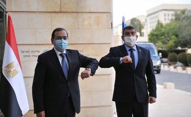 ביקור שר הנפט המצרי בישראל (צילום: משרד החוץ)