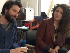 נועה קולר וארז דריגס (צילום: החדשות 12)