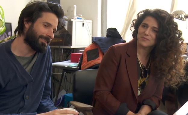נועה קולר וארז דריגס (צילום: החדשות 12, חוסין אל אוברה)