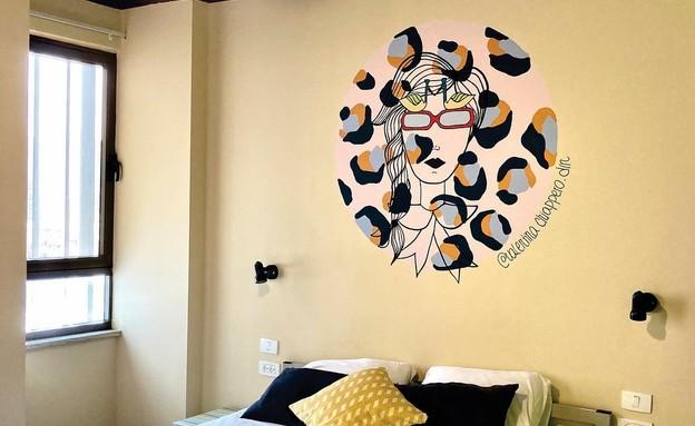 ציורי קיר ולנטינה  (צילום: ולנטינה צ'יאפארו)