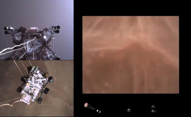 """הנחיתה במאדים (צילום: נאס""""א)"""