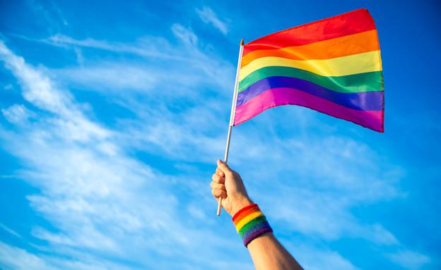 דגל הגאווה (צילום: lazyllama, Shutterstock)