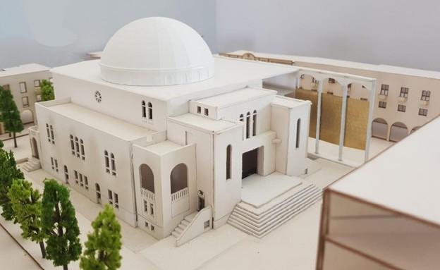 שיפוץ בית הכנסת הגדול. הדמיה (צילום: באדיבות קרן תל אביב. אדריכל: אורי פדן)