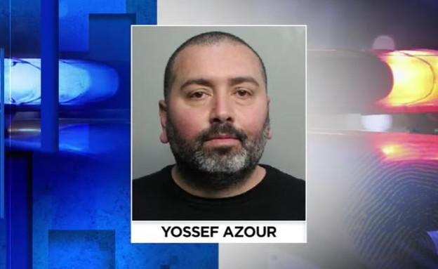 יוסף אזור, החשוד שתקף את בת זוגו לשעבר (צילום: צילום מסך מתוך WPLG Local 10)