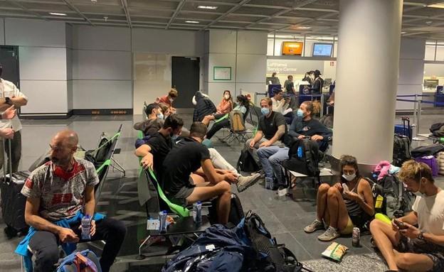 עשרות ישראלים נותרו בשדה התעופה בפרנקפורט