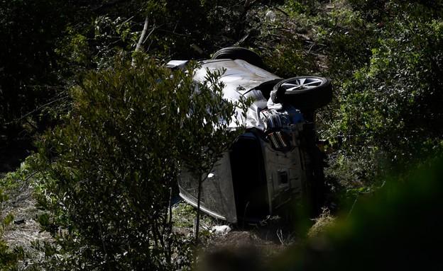 טייגר וודס תאונת דרכים (צילום: getty images)