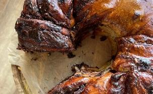 עוגת שמרים נוטלה (צילום: קרן אגם, אוכל טוב)