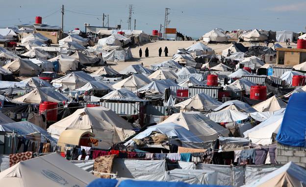 מחנה הפליטים אל-הול, צפון מזרח סוריה (צילום: רויטרס)