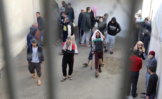 כלא לחברי דאעש בסוריה (צילום: רויטרס)