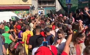 """מסיבת רחוב בת""""א (צילום: N12)"""