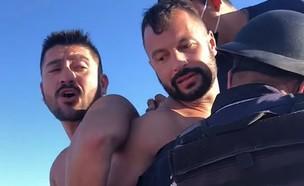 שני הגברים שנעצרו במקסיקו (צילום: מתוך עמוד הפייסבוק notitulum@, facebook)