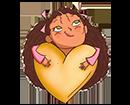 10 - כריכת ספר ילדה עם לב של זהב (עיצוב: הוצאת דותן)