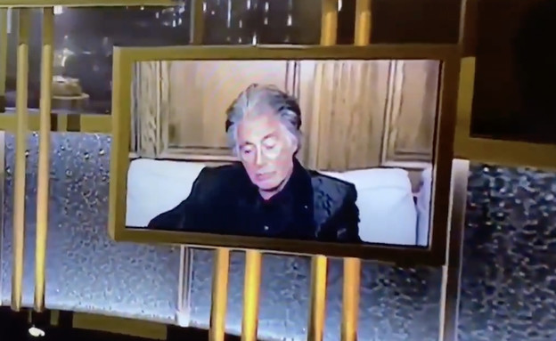אל פצ'ינו, גלובוס הזהב 2021 (צילום: NBC, צילום מסך)