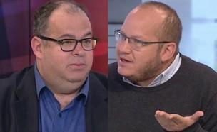 """חיים לוינסון ופרופ' יריב יוגב (צילום: מתוך """"חדשות הבוקר"""" , קשת 12)"""