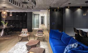 דלתות שחורות, עיצוב מירב רבינוביץ (צילום: שי אפשטיין)