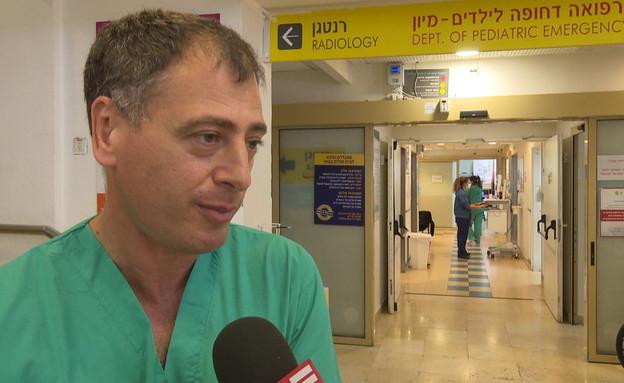 אנשי הצוות הרפואים שלא מתחסנים (צילום: החדשות 12)