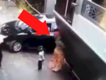 ניסתה לעזור לרכב לצאת מחניון - ונהרגה בתאונה קטלנית