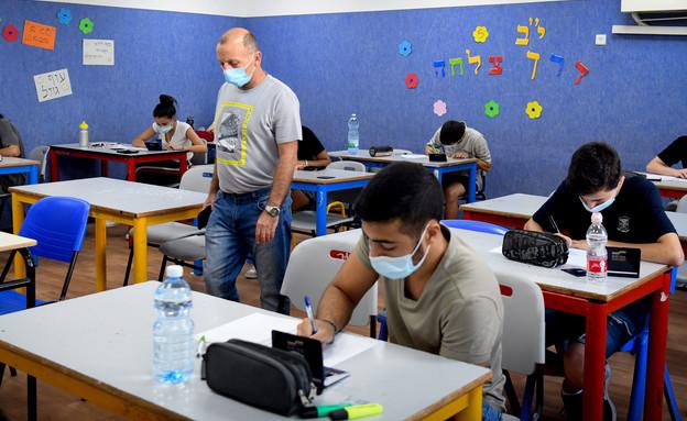 לימודים בזמן קורונה (צילום: יוסי זליגר, פלאש 90)