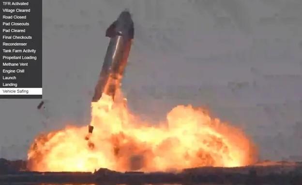 """תיעוד מיוחד: ספינת החלל של SpaceX מתפוצצת (צילום: נאס""""א)"""