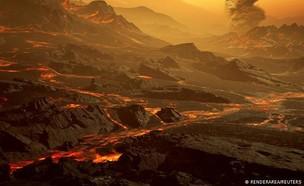 הדמייה של כוכב הלכת גליזה 486b (איור: RENDERAREA)