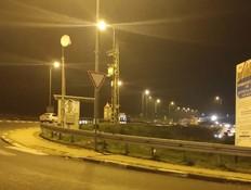 זירת ניסיון הפיגוע בכביש 60 (צילום: חיים בלייכר, TPS)