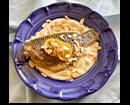 3 - דג אמנון אפוי על קרם שקדים ולימון (צילום: אסי רוז)