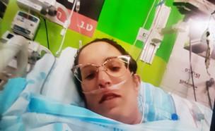 """היולדת שהייתה בין החיים למוות וניצלה (צילום: מתוך """"חדשות הבוקר"""" , קשת 12)"""