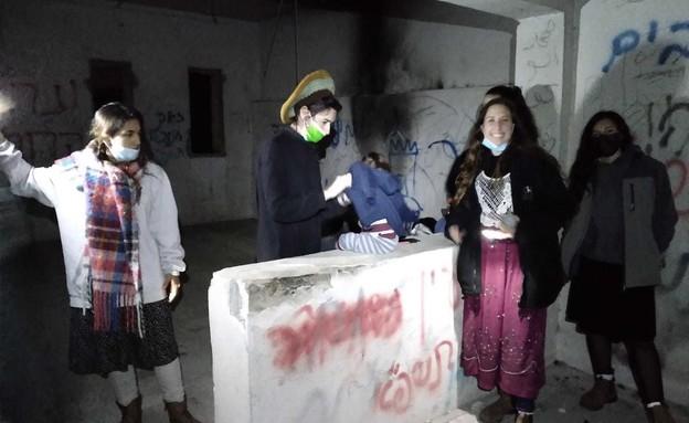 משפחות חזרו ליישוב שא-נור שפונה בהתנתקות (צילום: גרעין שאנור)
