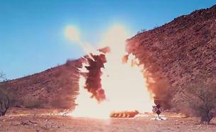 פגיעת הטיל (צילום: U.S.Army , YouTube)