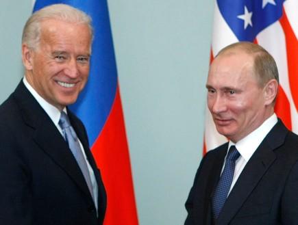 ג'ו ביידן ולדימיר פוטין (צילום: Sky News)