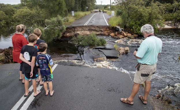 הצפות באוסטרליה (צילום: AP)