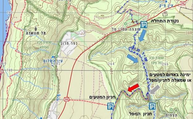 מפת המסלול (צילום: ארז דגן)