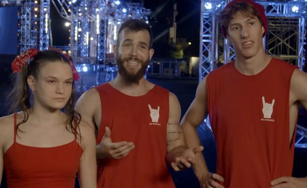 """נינג'ה אולסטארז, הקבוצה האדומה (צילום: מתוך """"נינג'ה ישראל"""", קשת 12)"""