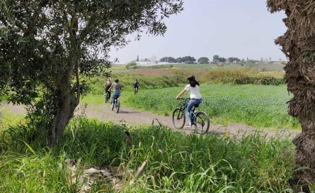טיול אופניים בבנימינה (צילום: אילן ארנון)