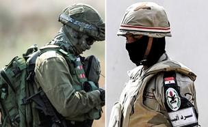 הצבאות משני צידי הגבול (צילום: Ilia Yefimovich/KHALED DESOUKI/AFP, GettyImages)