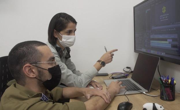 """סרן אלה ואויה, ראש תחום תקשורת ערבית בדובר צה""""ל (צילום: חדשות 12)"""