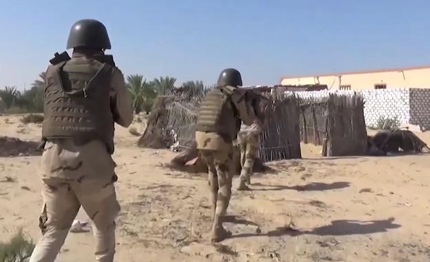 צבא מצרים נגד דאעש בסיני (צילום: وزارة الدفاع المصرية , YouTube)