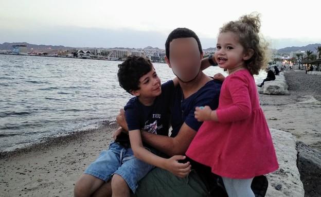 טייס, רס״ן י׳ עם משפחתו, יום הזכרון (צילום: באדיבות המשפחה)