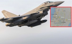 המטוס התוקף ומסלולו (צילום: Crown Copyright/ameliairheart)