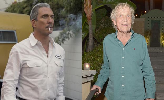 """סקוטי באוורס ובן דמותו ב""""הוליווד"""" (צילום: באוורס - Charley Gallay; GettyImages IL; """"הוליווד"""" - יח""""צ Netflix)"""