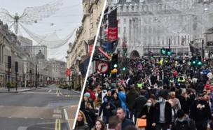 לונדון אתמול (צילום: JUSTIN TALLIS, AFP)
